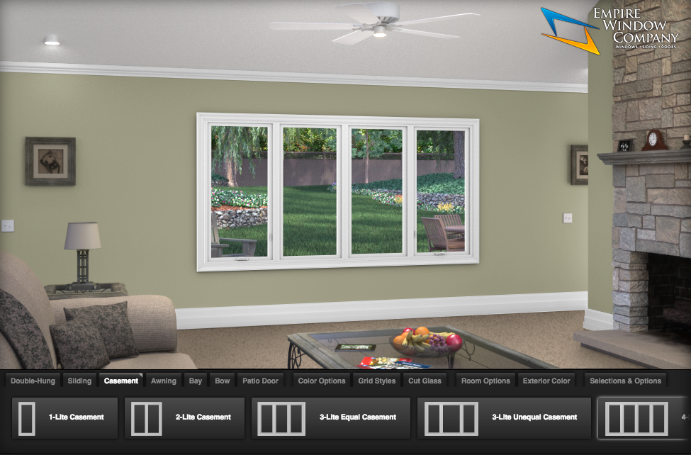 Window design center online at empire window company for Window design company